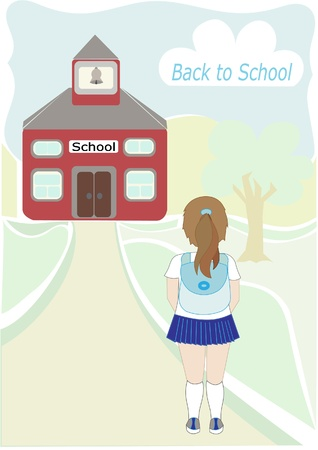 schoolhouse: Back to school illustration