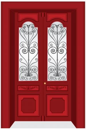 Antique door illustration Stock Vector - 10994427
