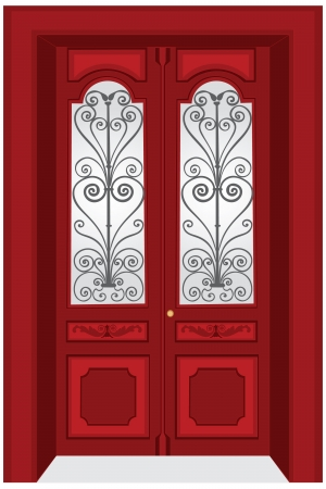 metal doors: Antique door illustration