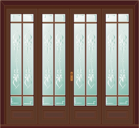 Vintage door Stock Vector - 11076392