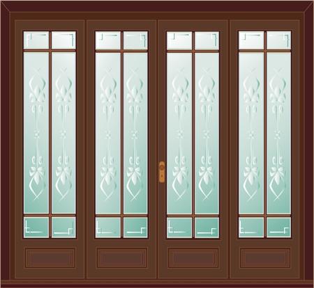 glass doors: Vintage door