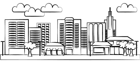 уличный фонарь: Город иллюстрации Иллюстрация