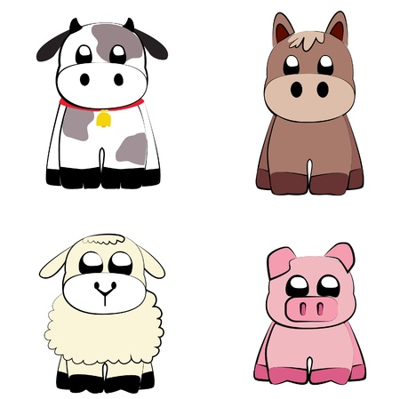 bovine: Cute Farm Animals Illustration