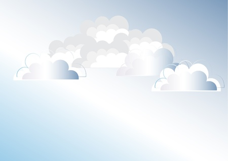 Clouds background illustration Vector