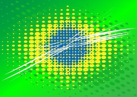 Brazilian flag background  Illustration