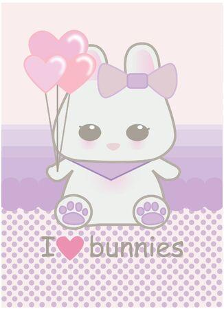 Cute baby bunny Vector