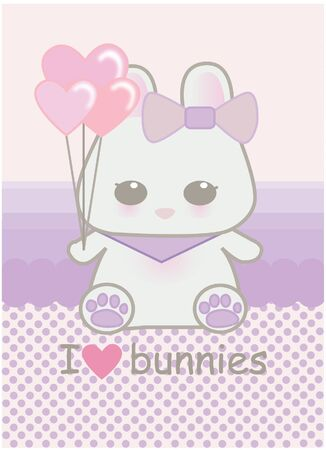 Cute baby bunny Stock Vector - 11912542