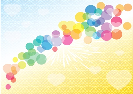 Colourful romantic background Vector