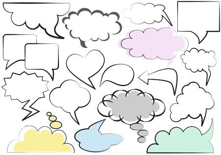 Speech balloons set Illustration