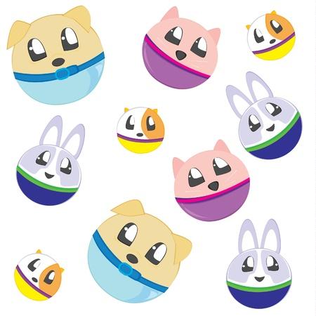 Pet balls seamless pattern Vector