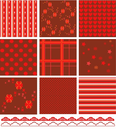 Romantic pattern set  Vector