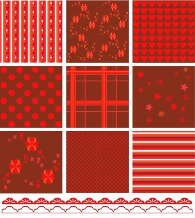 Romantic pattern set  Vector
