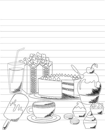 Illustration Bonbons doodle
