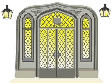 Antique door illustration Vector