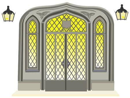 Antique door illustration