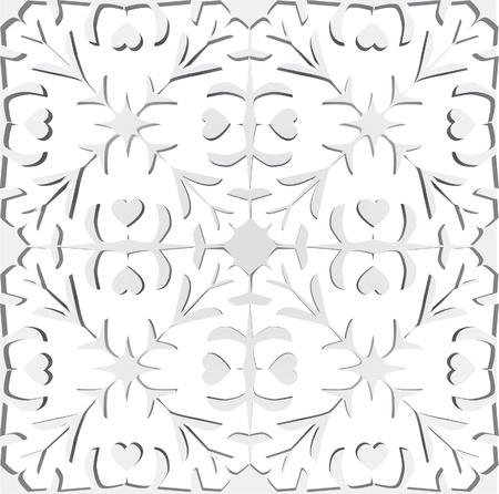kirigami: Paper cutting illustration