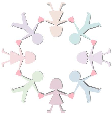 紙の切断の数字  イラスト・ベクター素材