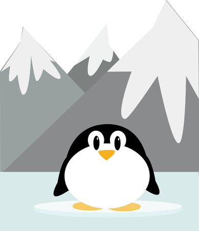 Cute penguin illustration Stock Vector - 12445921