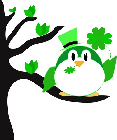 St Patricks day bird Stock Vector - 12445924