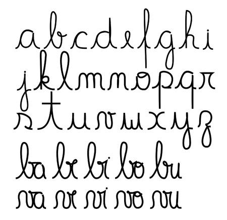 cursive: Cursive alphabet