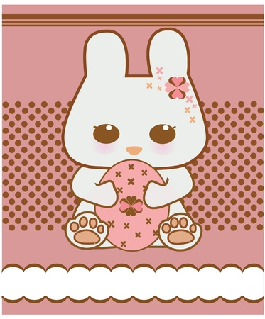 Easter bunny cute illustration Stock Vector - 12907316