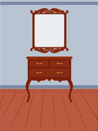 ladenkast: Antieke dressoir vintage stijl
