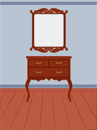 Antique dresser vintage style Vector