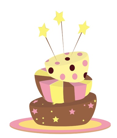 Funny wonky cake Vector