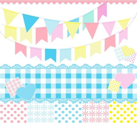 カラフルなパーティーの装飾  イラスト・ベクター素材