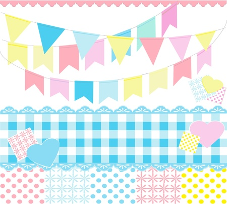 checked flag: Colorful party decoration
