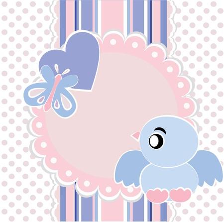 Baby girl background