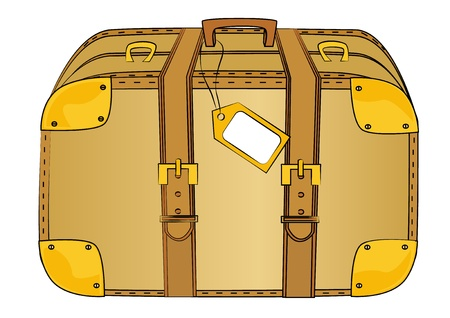 luggage tag: Old trunk with tag