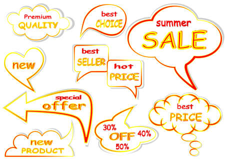 Best price sale tag set Vector