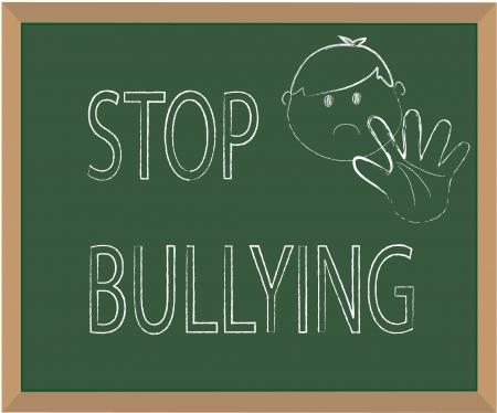 racismo: Detener el acoso ilustraci�n con tiza
