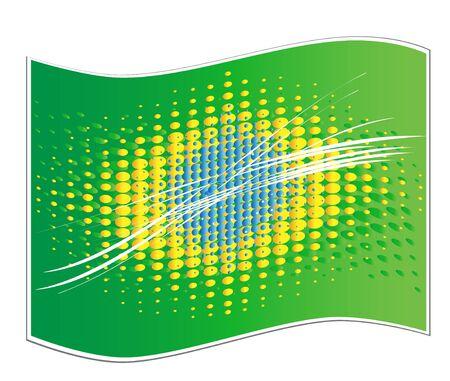 brazilian flag: Brazilian flag abstract background