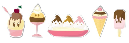 Ice creams set Stock Vector - 14873201