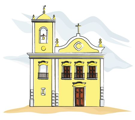 Church hand drawn sketch Vector