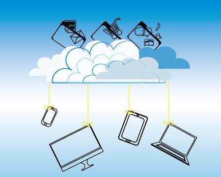 Cloud computing concept Stock Vector - 15862920