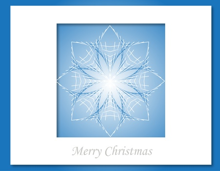 Christmas star card Stock Vector - 15914730