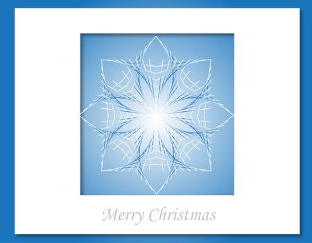 Christmas star card Stock Vector - 15914730