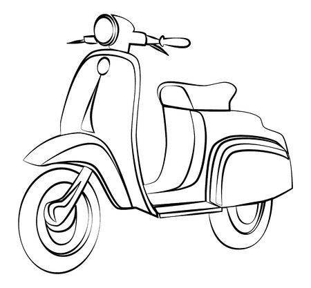 scooter: Scooter outline