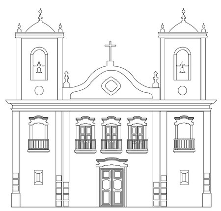 Old church outline Stock Vector - 16307250