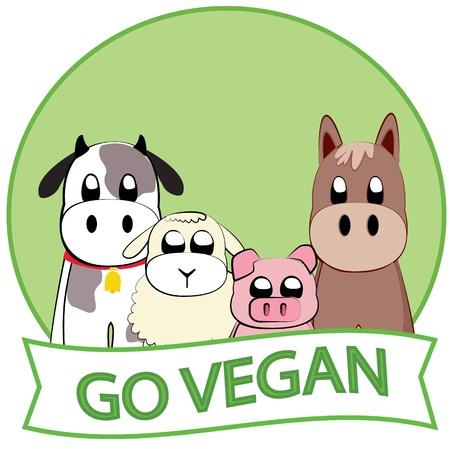 vegan: Go Vegan slogan
