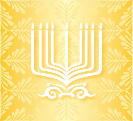 Hanukkah candles Stock Vector - 16689908