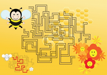 Cute maze for kids Vector