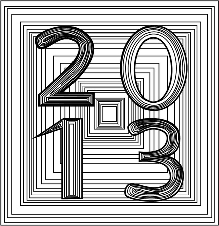 Year 2013 Stock Vector - 16848774