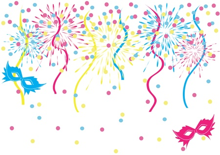 Confetti carnival background Vector