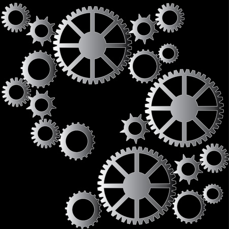 Cogs pattern background