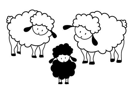 black sheep: Black sheep family