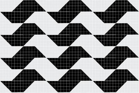 Sao Paulo seamless mosaic. Pattern symbol of Sao Paulo city of Brazil.